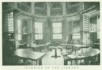 Interior of the Seelye Hall library, 1905.