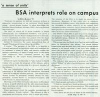 """BSA Interprets Role on Campus,"" The Sophian, 12 December 1968."