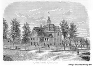 Smith Academy, Hatfield, Massachusetts, Founded 1870,  opened 1872