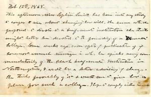 John M. Greene journal entry, 12 February 1868