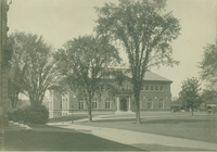 Exterior front view of Library, 1909.