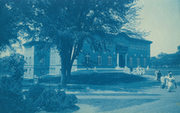 Library exterior front view, c1909.