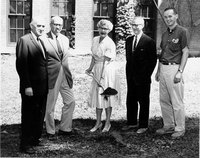 Groundbreaking ceremony for new wings at Neilson Library, July 1961.