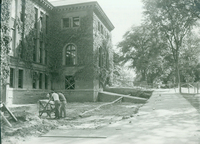 Construction of addition to Neilson Library, c1961.