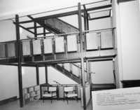 New staircase in Neilson Library, October 1962.