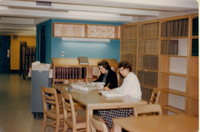 Interior of Neilson Library after renovation, c1962.
