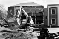 Construction of new wing at Neilson Library, c1979.