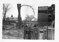 Construction of new addition to Neilson Library, 1979.