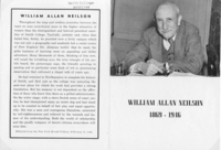 William Allan Neilson printed memorial with tribute from The New York Herald Tribune, February 1946.