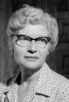 Portrait of College Librarian Margaret Johnson, undated.