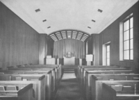 Interior of College Library Chapel, November 1941.