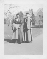 Eunice Wead, class of 1902, at the left, with her sister Katherine Wead, class of 1909, c1906.